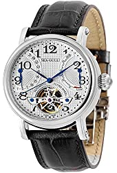 Seagull Automatic Mechanical Mens Watch M172s Skeleton Flywheel Power Reserve Genuine Leather Strap
