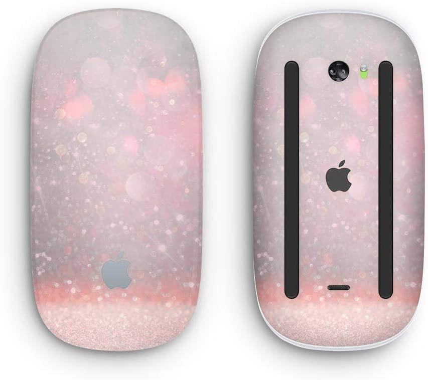 Muted Pink and Grunge Shimmering Orbs Design Skinz Premium Vinyl Decal for The Apple Magic Mouse 2 with Multi-Touch Surface Wireless, Rechargable