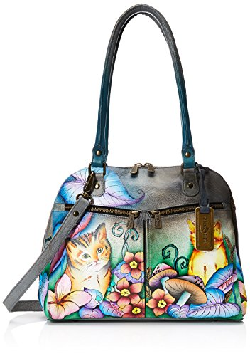 anuschka-handpainted-leather-zip-around-organizer-satchel-cats-in-wonderland