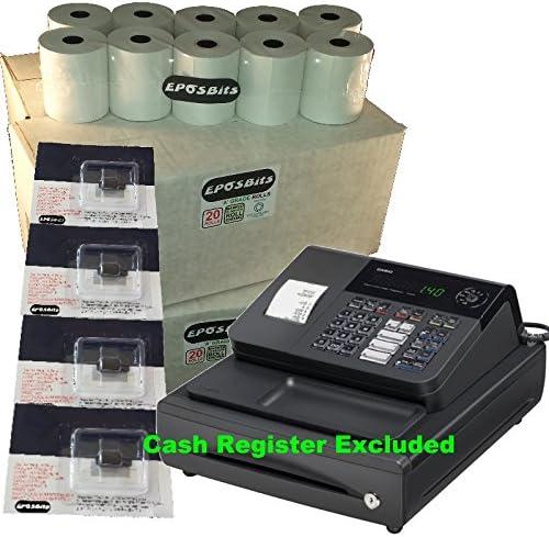 4/x de tinta para Casio 140/CR 140/CR caja registradora eposbits/® marca 80/rollos