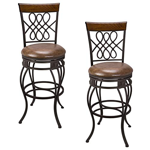 Bar Stool Back Custom Swivel - Kira Home Monarch I 30