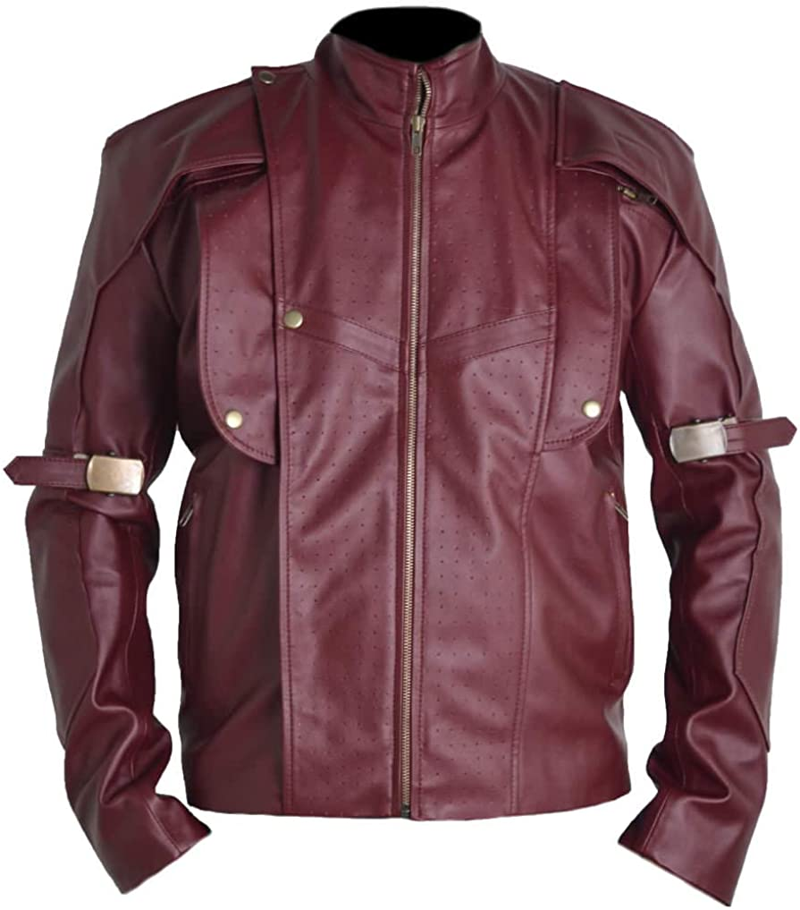 Stormwise Mens Guardians of Fashion Galaxy Leather Jacket