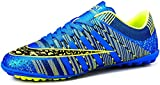 JiYe Men Soccer Shoes For Women Turf Shoe Indoor Cross Training by, Blue,38 EU=6US-Men/7US-Women