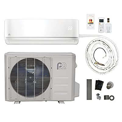 Perfect Aire DIY 18,000 BTU 16 SEER Quick Connect Ductless Mini-Split Heat Pump - 115V