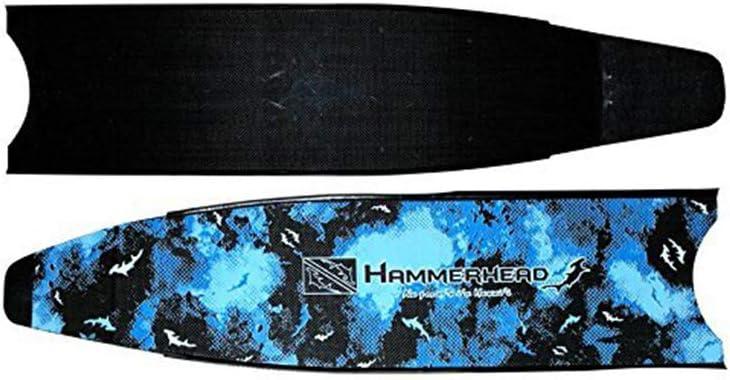 HAMMERHEAD Kaudal Carbon Blue Camo Replacement Fins Blades