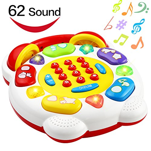 - Phone Toy, Smart Phone With 22 Button 62 Sound and Music, Funcorn Toys Telephone For Kid Child Baby Toddler, Home SmartPhone Toy For Learning Educaton