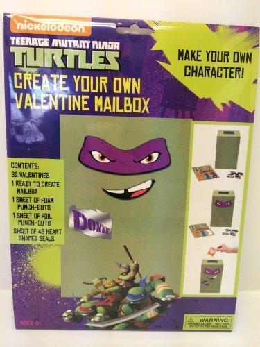 Teenage Mutant Ninja Turtles Create Your Own Valentine Mailbox and 32