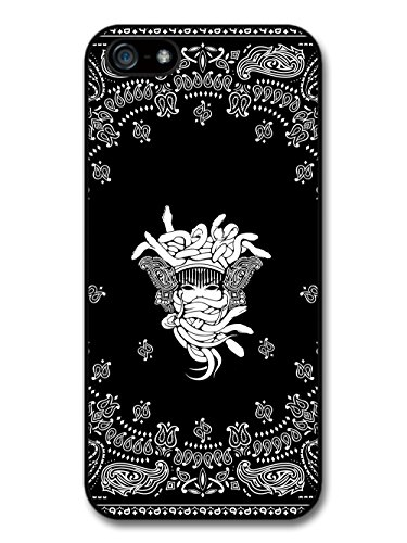 Black Bandana Gang Medusa Biker Illustration case for iPhone 5 5S