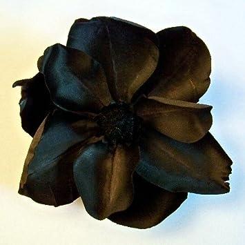 Amazoncom Black Magic Magnolia Large Artificial Flower Hair Clip