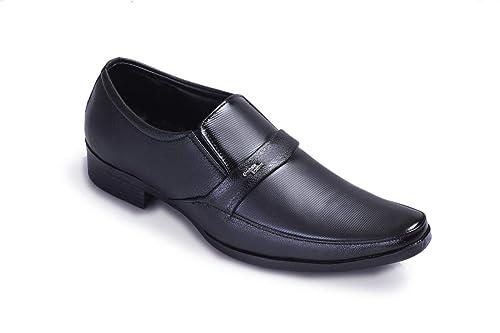 kraunn Black Slip On Synthetic Leather