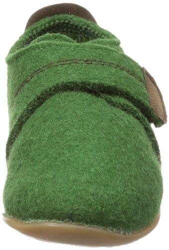 Giesswein Vira - Pantuflas de lana niño verde - Grün (avocado 451)