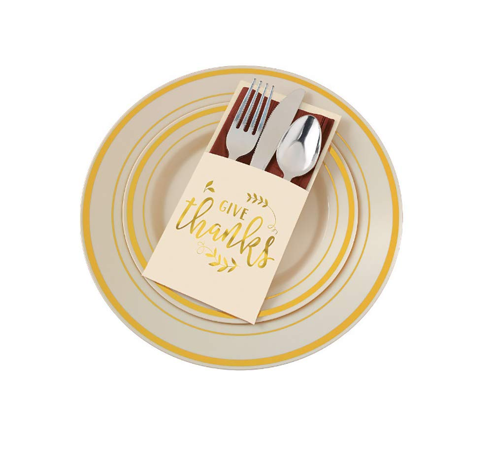 Give Thanks Cutlery Holders, 2 Packs, 24 Count Total Christmas gift ...