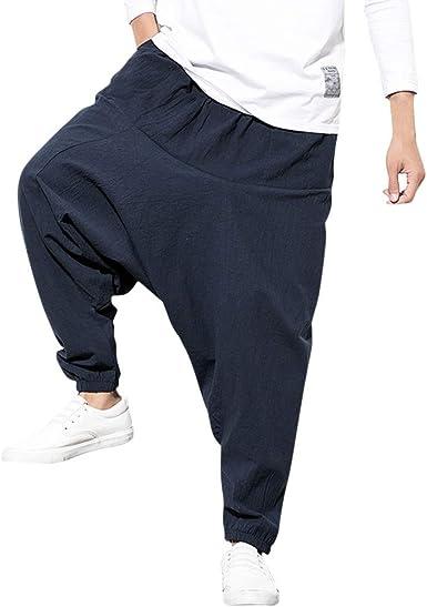Pantalones de Algodón y Lino para Hombres de Pierna Calidad ...