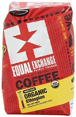 Equal Exchange Organic Coffee, Ethiopian, Whole Bean, Bags