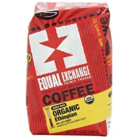 Equal Exchange Organic Coffee, Ethiopian, Whole Bean, Bags 9 FULL CITY ( MEDIUM ) ROAST COMPLEX WITH INCREDIBLE FRIUT NOTES !! FAIR TRADED SMALL FARMER GROWN