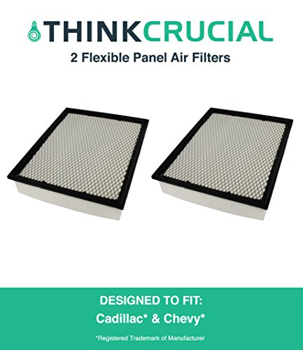 2 Premium Extra Guard Flexible Panel Air Filter, Part # A45315 & # CA8755A, Fits Acura TSX, Honda Accord, Maximum Air Flow, 1.57 x 5.92 x 13.5 in., by Think Crucial