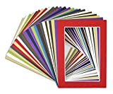 picture matting - Golden State Art, Acid Free Pack of 25 Mix 5x7 Photo Mats Mattes Matting with White Core Bevel Cut For 4x6 Pictures in Premier