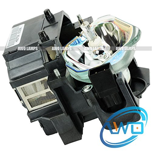AWO ELPLP50 / V13H010L50 Replacement Bulb/lamp with Housing for EPSON PowerLite 825 825+ 826W 826W+ 84 84+ 85 85+;EB-824 EB-825 EB-825H EB-826W EB-84 EB-84E EB-84he EB-85; EMP-825 EMP-84he
