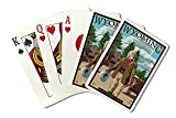 Buffalo Bill Scene - Wyoming (Playing Card Deck - 52 Card Poker Size with Jokers)