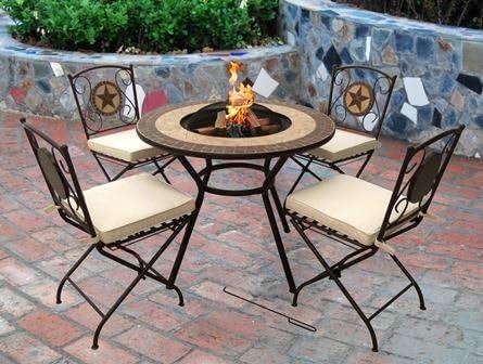 Verona con 4 sillas – Brasero para hacer hogueras, calentador de ...