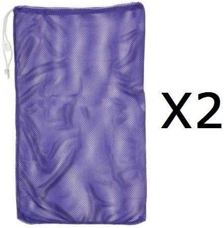 """チャンピオン24"""" x36""""メッシュボールランドリーギア巾着バッグコードロック& ID (2パック)"""