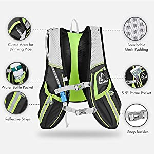 Hydration Backpack, Terra Hiker Ultralight Backpack, Hydration Vest for Outdoor Trail, Marathoner, Running, Race, Lightweight & Versatile