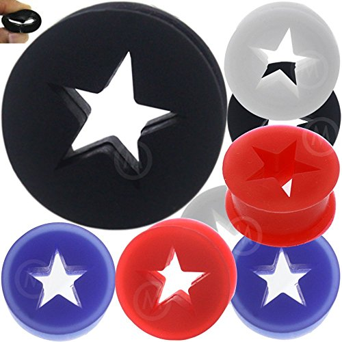 1/2 Inch gauges ear plugs silicone flesh tunnels double flare expander stretcher taper MoDTanOiz 12mm