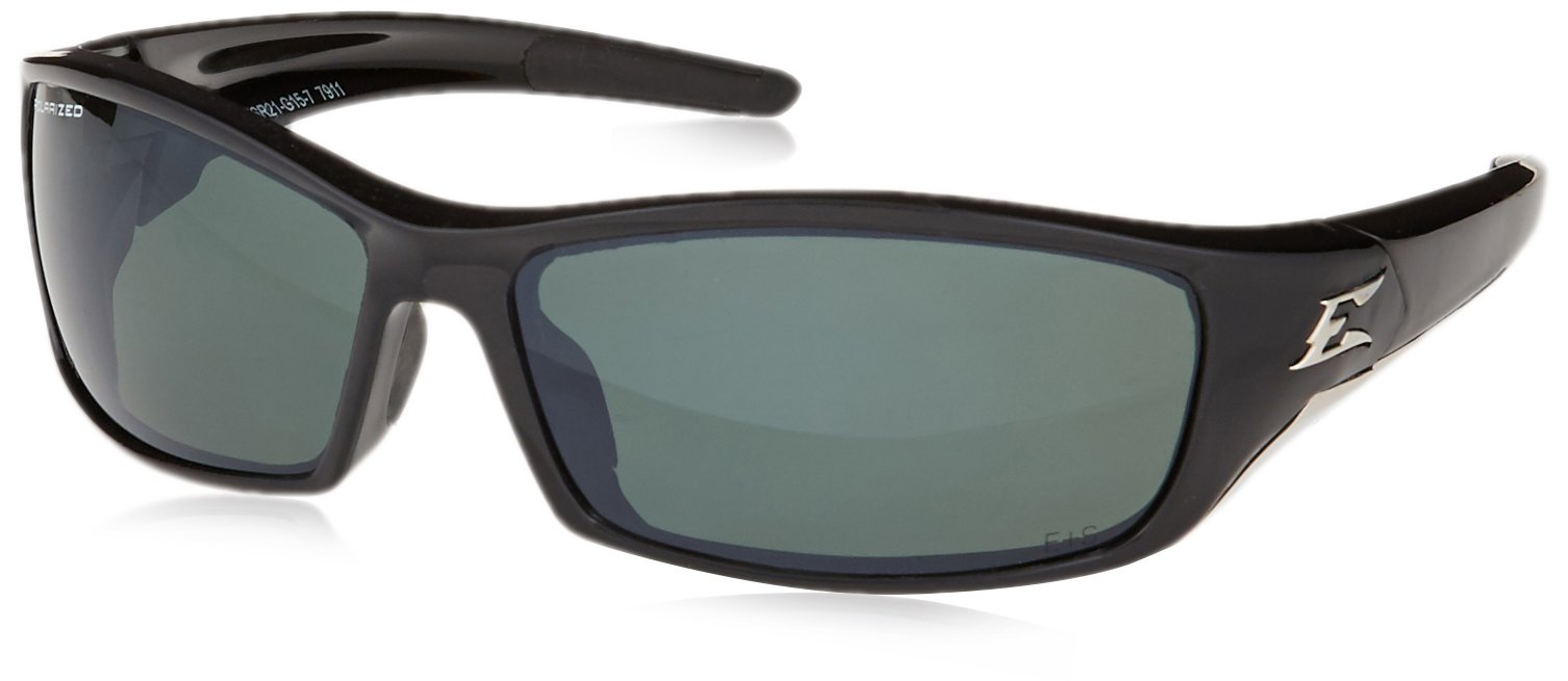 Edge Eyewear TSR21-G15-7 Reclus Safety Glasses, Black with Polarized G and 15 Silver Mirror Lens