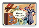 Cavallini Gift Tags Travel, 36 Assorted Gift Tags