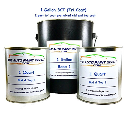 FORD MUSTANG Laser Red Pearl Metallic Tri-coat E9/M6688/M6898 1 Gallon 3ct Touch Up Paint (For All Year) by Auto Paint Depot (Image #5)