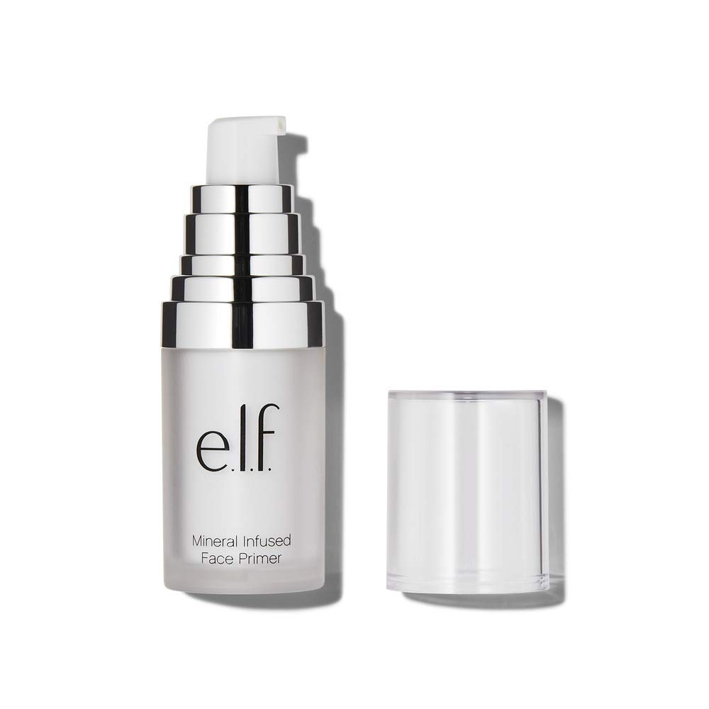 e.l.f, Mineral Infused Face Primer - Small, Weightless, Silky, Long Lasting, Creates a Smooth Base, Fills Fine Lines, Refines Complexion, Versatile, Ideal for All Skin Types, 0.47 Fl Oz