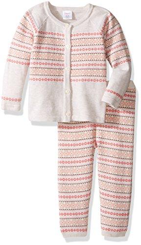 Gymboree Girls' Fairisle Sweater Set, Jet Ivory, 6-12 -
