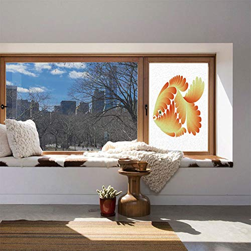 ALUON The Visual Effect of Textured Glass and Stained Glass,Aquarium,is Good for Long Year Under The Sunshine,Fantasy Design Figure with Stylized Scales Artistic -