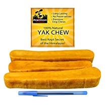 Himalayan Yak Dog Chew, 100% Natural Dog Chews, Value Pack (~ 2 lb, Mulitple Chews), by Downtown PetSupply