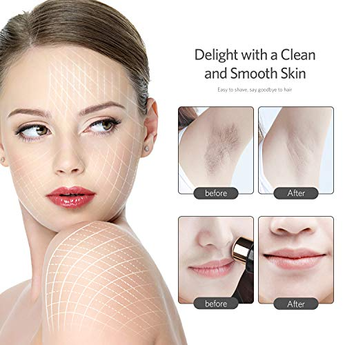 Facial Hair Removal, I.FM Waterproof Painless Flawless Hair Remover Miniature Female Facial Hair Remover by I.FM (Image #4)
