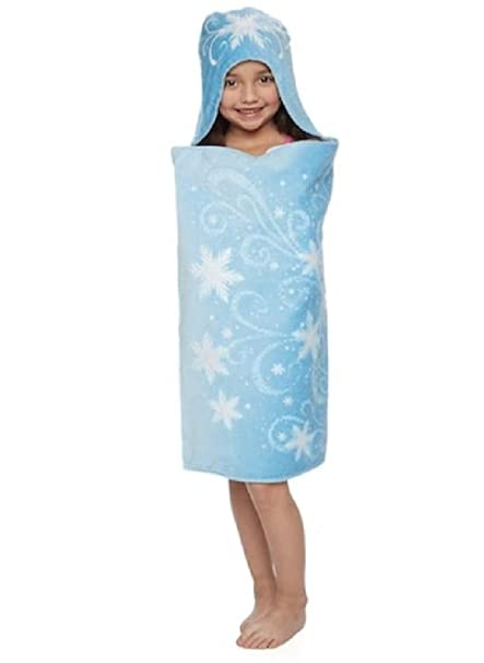 d4c3e17eca577 Jumping Beans Disney s Frozen Elsa Hooded Bath Towel Wrap (25 quot  ...