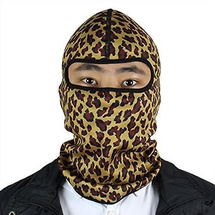 Padrão DealMux Lycra Ciclismo Impressão Camuflagem Facial Máscara Balaclava Cap Hat capa