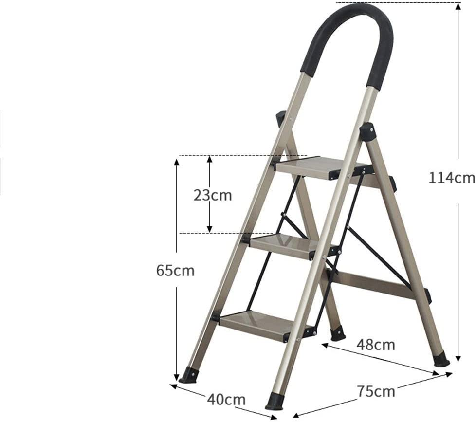 ,White,4976145Cm Multifunction Tool Rack// Holds up to 150 Kg MJY Multipurpose4 Step Heavy Duty Steel Ladder, Indoor Household Use Construction Stepladders