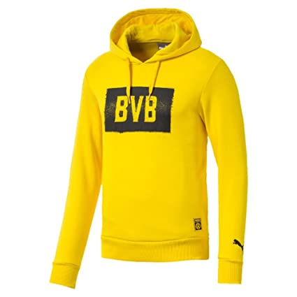 Puma Fútbol Borussia Dortmund BVB Stencil Sudadera con Capucha Sudadera Amarillo, XXXL