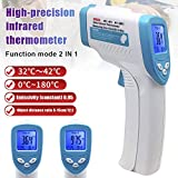 Xzan Handheld Infrared Thermometer Temperature Meter LCD Non-Contact Forehead 32-42.9 C Measuring