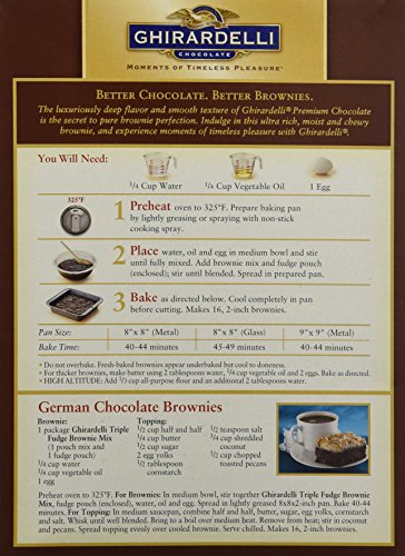 Ghirardelli Triple Fudge Brownie Mix 2 Pack Amazon Grocery