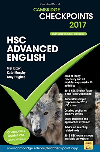 Download Cambridge Checkpoints HSC Advanced English 2017 ebook