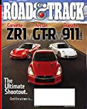 Road & Track June 2010 Corvette ZR1 & Nissan GT-R & Porsche 911 Turbo on Cover (The Ultimate Shootout), Corvette ZR1 vs Nissan GT-R vs Porsche 911 Turbo, Audi R8 Spyder, Jaguar XJ, Tesla vs Lotus, Ignition Systems: Lighting the Fire