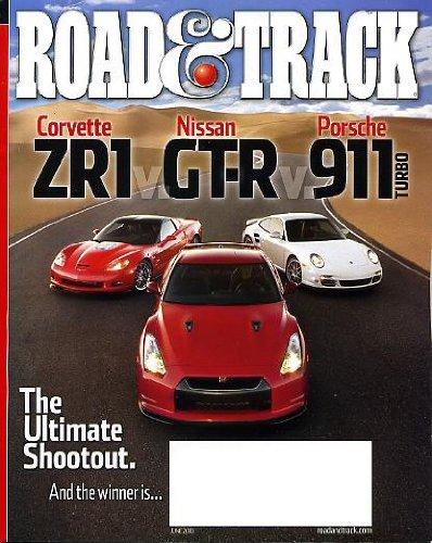 - Road & Track June 2010 Corvette ZR1 & Nissan GT-R & Porsche 911 Turbo on Cover (The Ultimate Shootout), Corvette ZR1 vs Nissan GT-R vs Porsche 911 Turbo, Audi R8 Spyder, Jaguar XJ, Tesla vs Lotus, Ignition Systems: Lighting the Fire