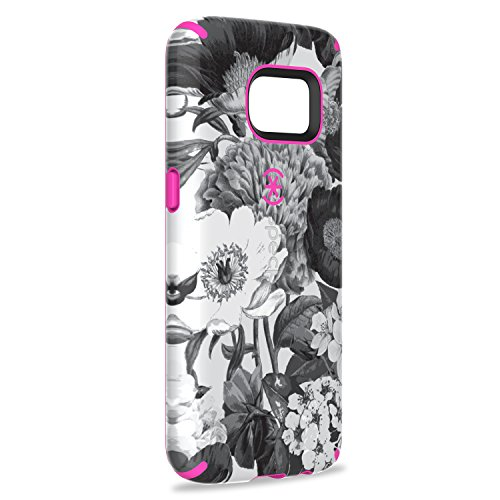 (Speck Products Samsung Galaxy S7 Case, CandyShell Inked Case (Vintage Bouquet Grey/Shocking Pink), Protective Case)