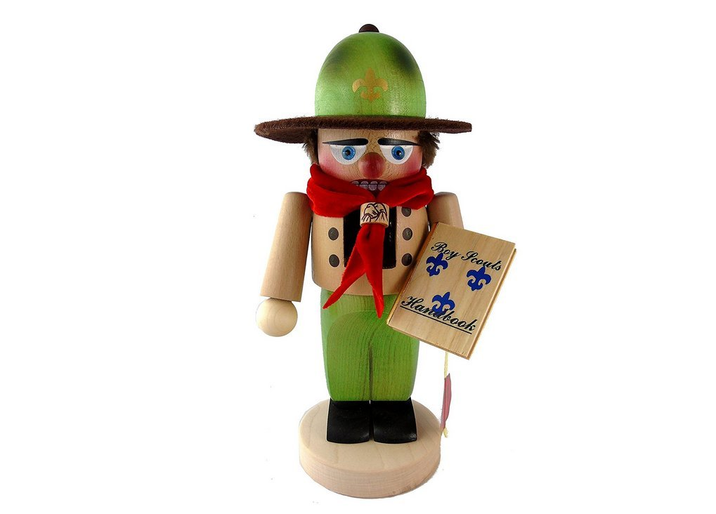 German Christmas Nutcracker Chubby Boy Scout - 11.5 inch - Authentic German Erzgebirge Nutcrackers - Steinbach