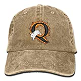 Q White Rabbit AwarenessWashedBaseball Cap Adult Unisex Adjustable Cap