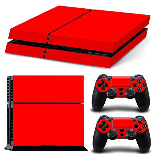Gam3Gear Pattern Series Decals Skin Vinyl Sticker for PS4 Console & Controller  (NOT PS4 Slim / PS4 Pro) - Red