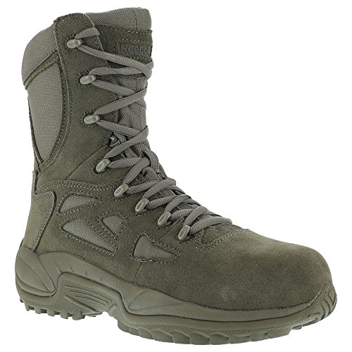 Converse Suede Boot - Reebok Womens Sage Green Suede Tactical Boots Rapid Response RB Comp Toe 11 M