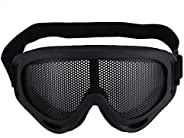 X400 Goggles for Tactical Military CS Game Shooting, Mesh Airsoft Hunting Goggles Sunglasses Eyewear with Adju